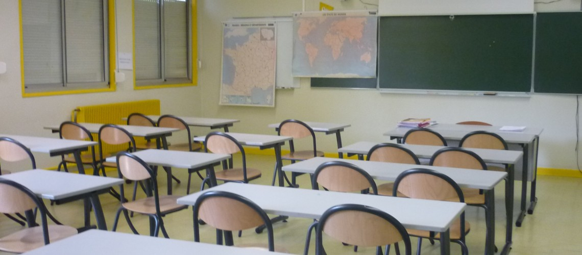 Salle de classe au collège